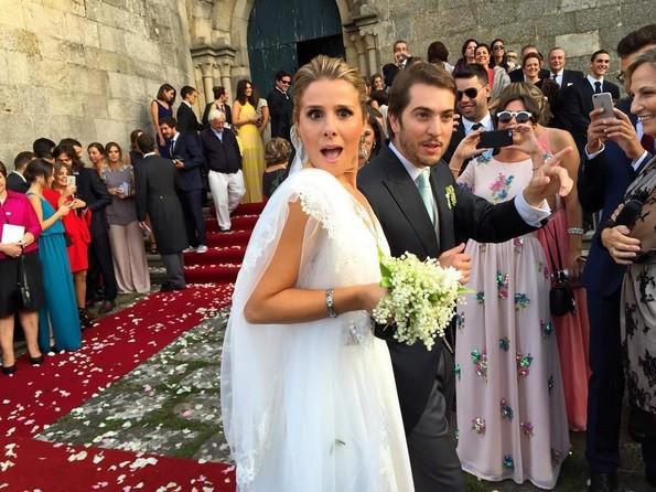 Diana Bouça-Nova e Francisco Coelho Lima trocaram alianças em outubro, no Convento de Santa Clara, em Vila do Conde.