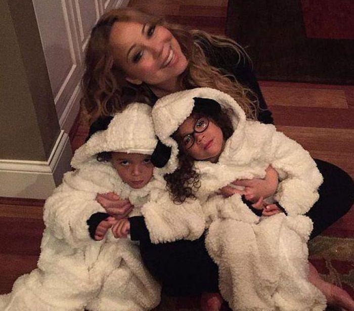 Mariah Carey com os seus filhos gémeos