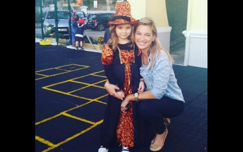 Vanessa Palma com a filha