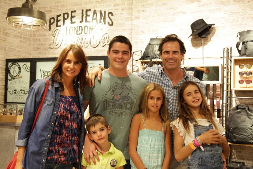 Pedro Lima e Anna Westerlund com os filhos