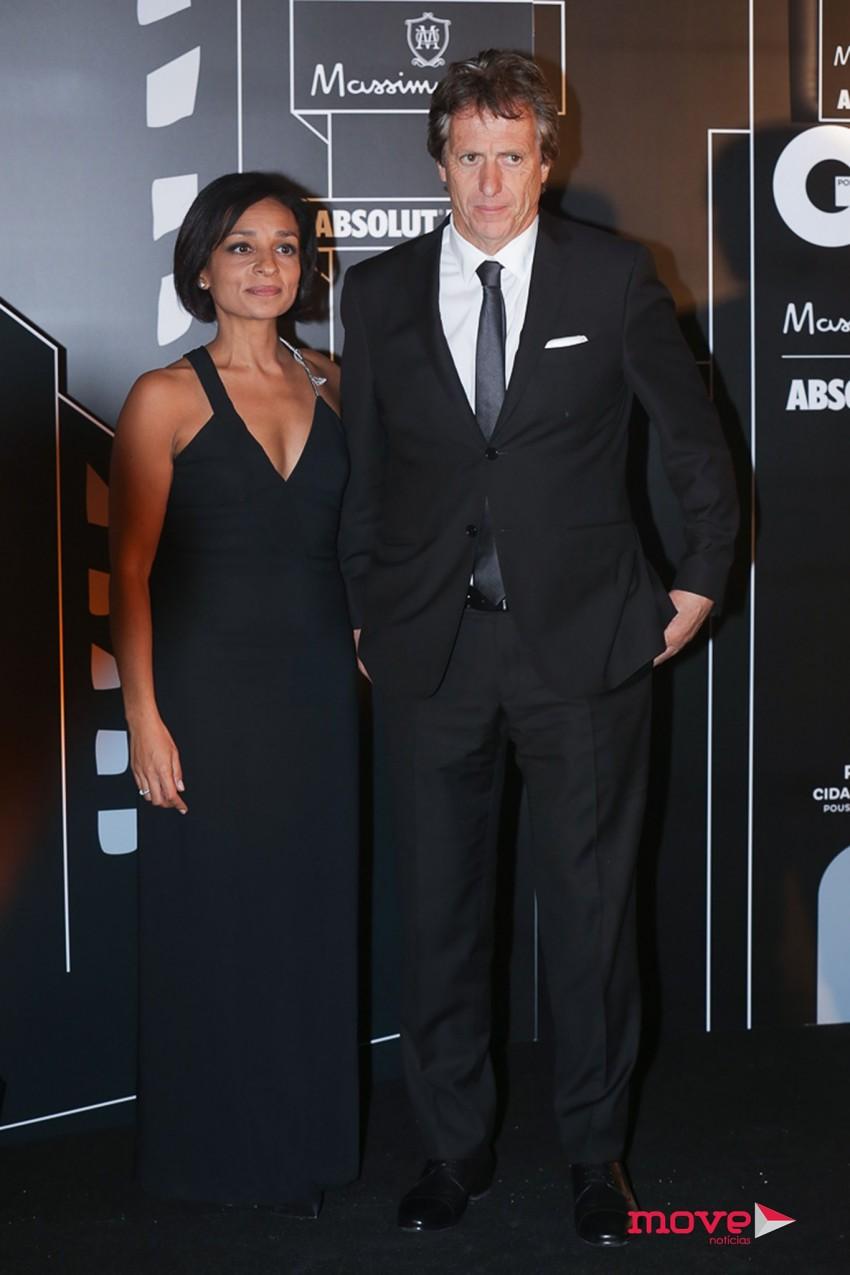 Jorge Jesus e a CEO da GQ Sofia Lucas