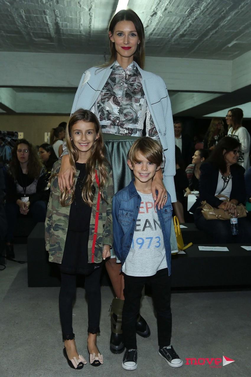 Diana Pereira com os filhos, Mel e Noah