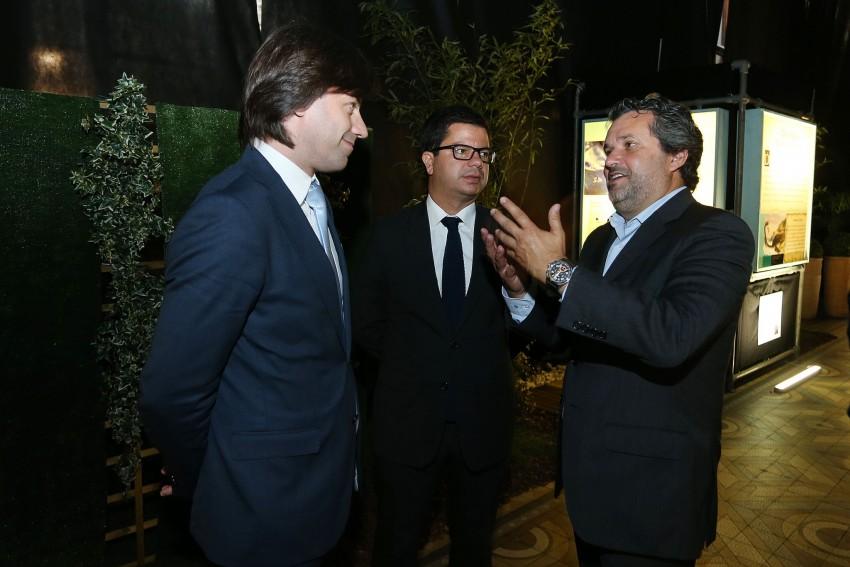 Miguel Maria , Nuno Botelho ( Presidente da Associação Comercial do Porto ) e Joel Cleto
