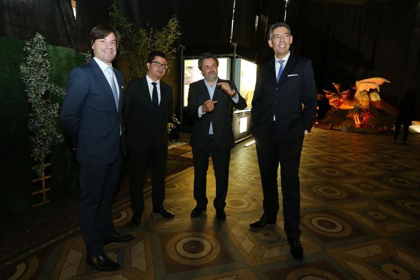 Miguel Maria , Nuno Botelho ( Presidente da Associação Comercial do Porto ), Joel Cleto e Jorge Macedo