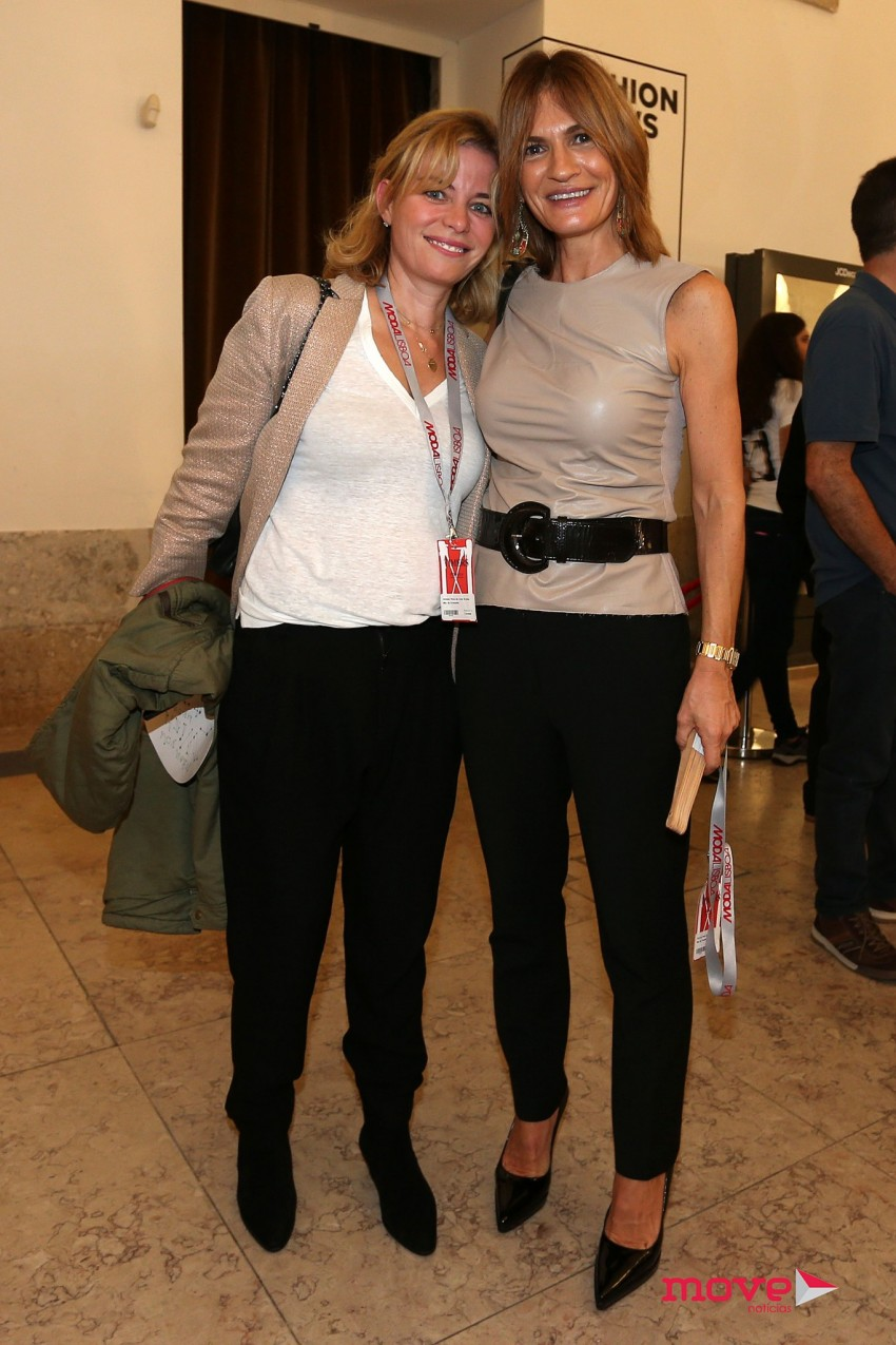 Patrícia Pires de Lima com uma amiga