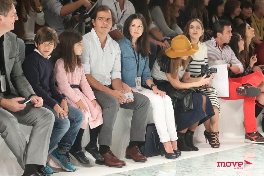 Presidente da ANJE, João Rafael Koehler, com os filhos Rafael e Luísa e a namorada Victoria Nicolaenko