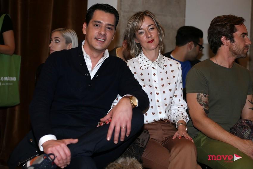 Carlos Gil com a mulher, Carla