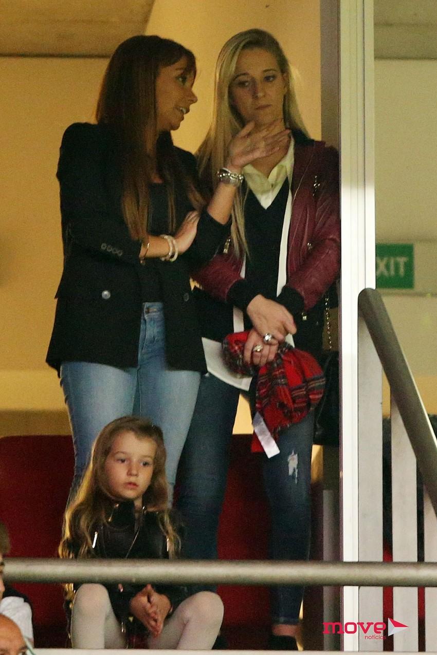 A mulher de Fábio Coentrão, Andreia, e a filha Vitória