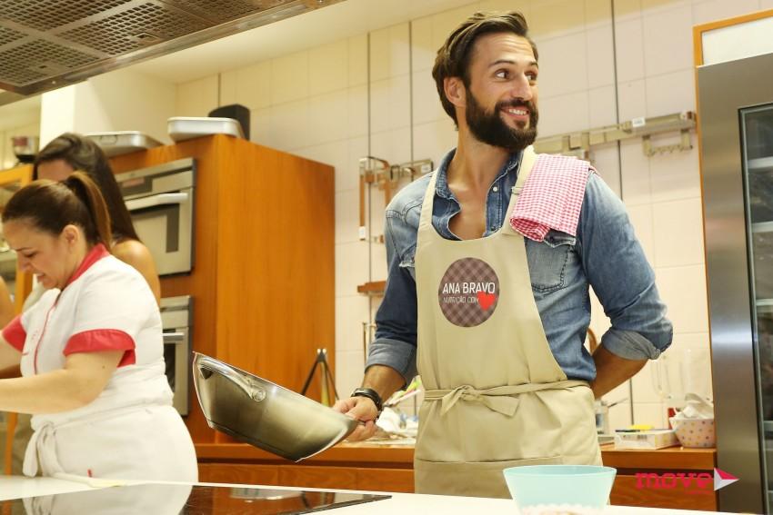 José Fidalgo mostrou os seus dotes de cozinheiro