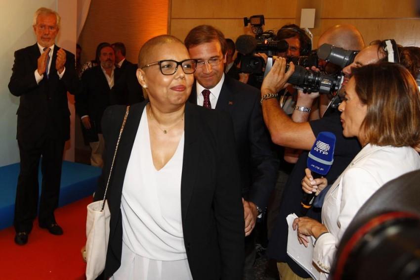 Eleições Legislativas 2015 - Noite eleitoral na sede de Campanha da Coligação Portugal à Frente (PSD/CDS-PP) / PaF, no hotel Sana Malhoa. Discurso do partido vencedor