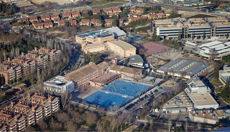 Uma imagem do colégio
