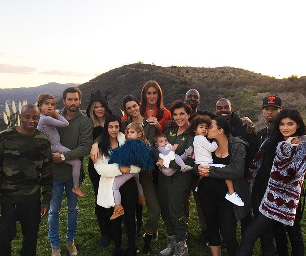 Acao de gracas Kardashians
