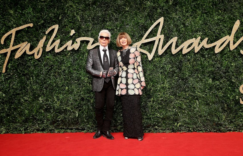 Karl Lagerfeld e Anna Wintour