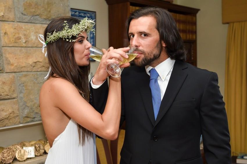 Cuca Roseta e João Lapa no dia do casamento