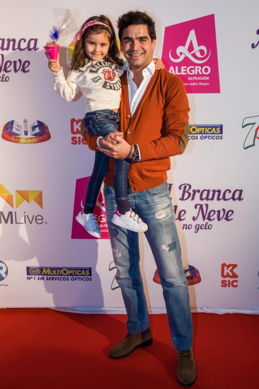 Dani Carvalho com a filha, Maria Luísa