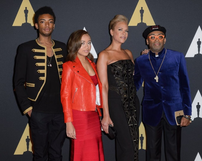 Spike Lee, Jackson Lee, Satchel Lee e wife Tonya Lewis Lee