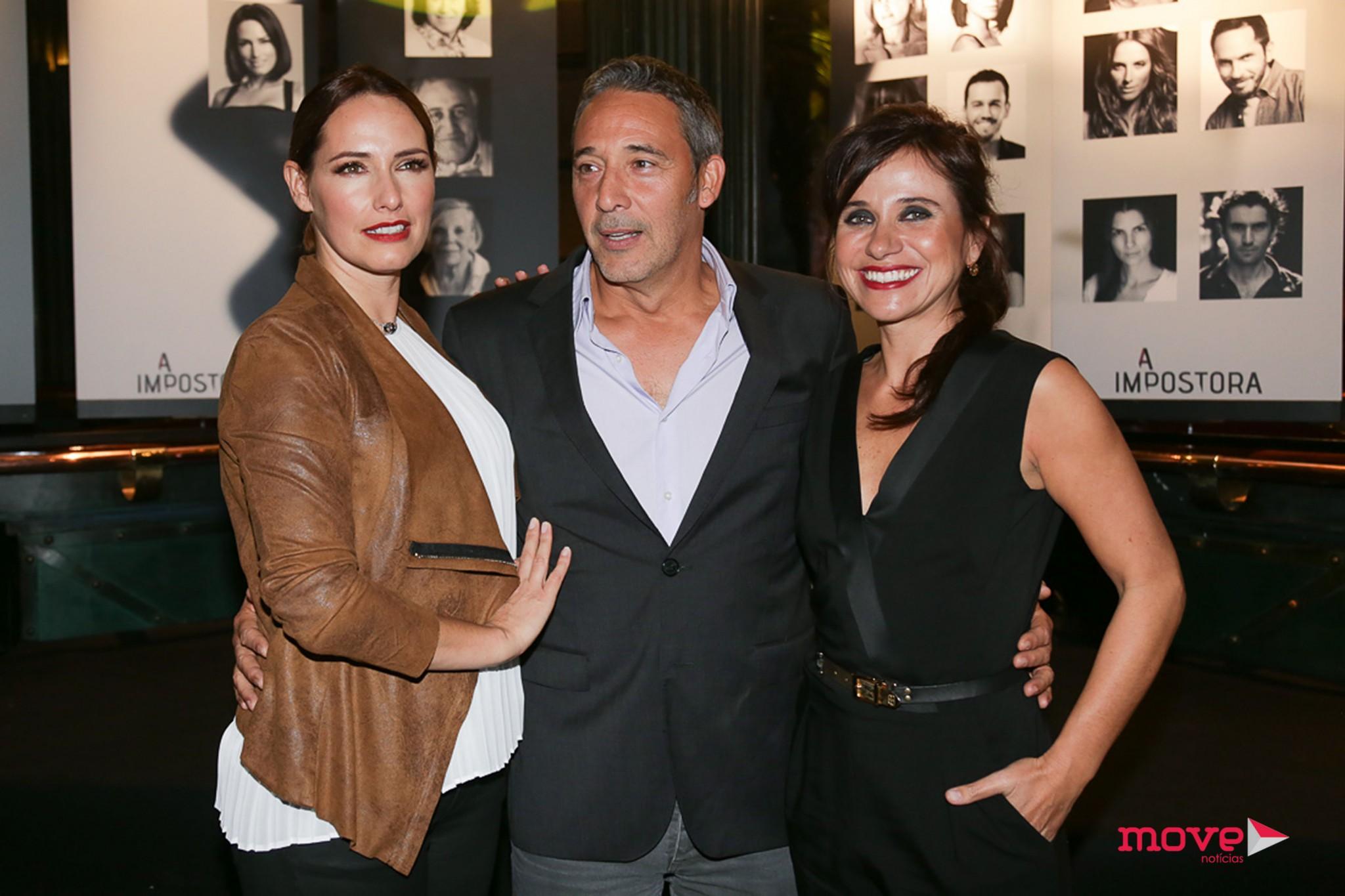 Diogo Infante com Fernanda Serrano e Dalila Carmo