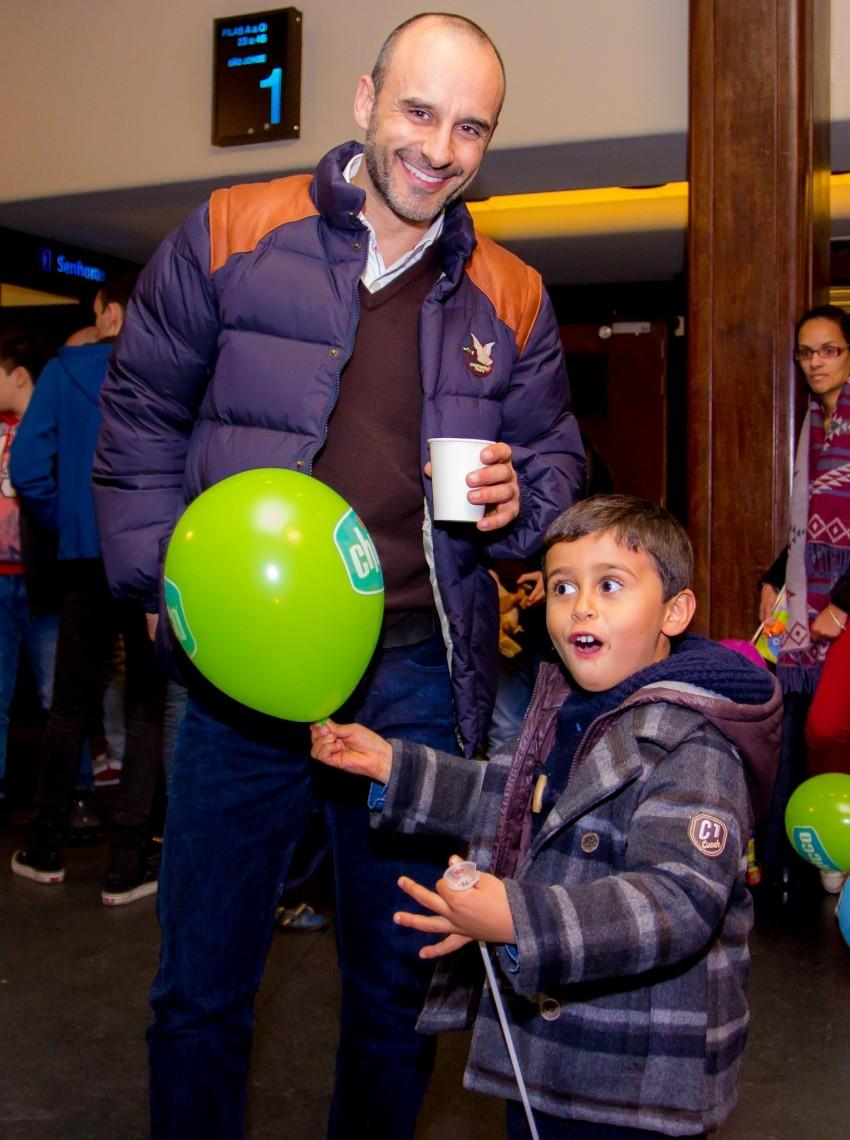 Rui Unas e o filho, André