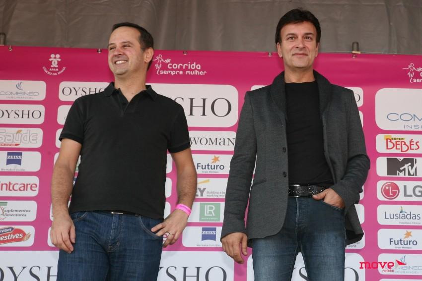 Tony Carreira e o presidente da câmara de Lisboa, Fernando Medina