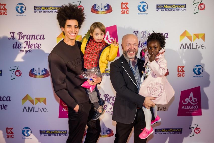Luís Borges e Eduardo Beauté com os filhos, Bernardo e Lurdes