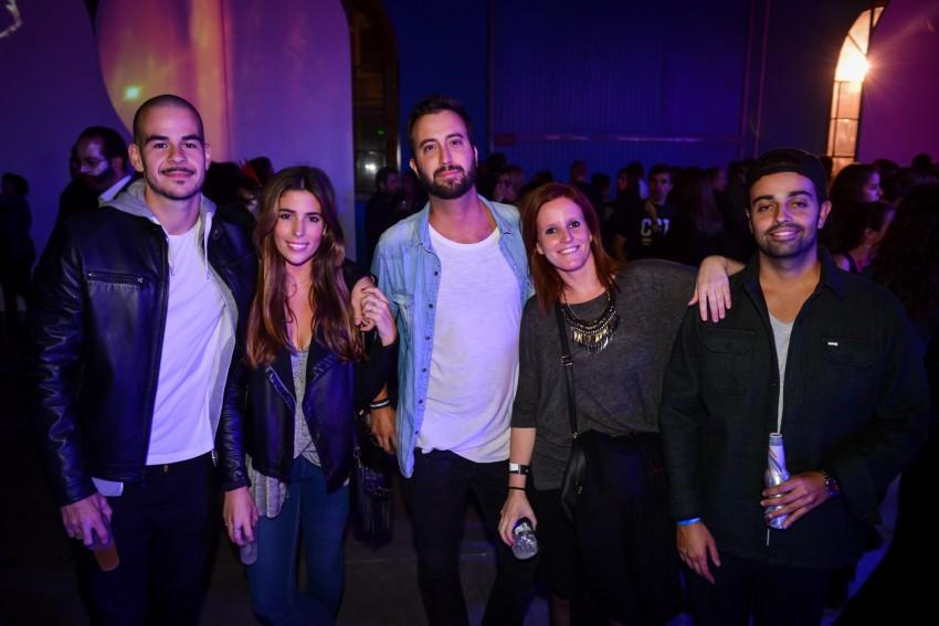 Luís Franco Bastos com a namorada, Sofia, e amigos