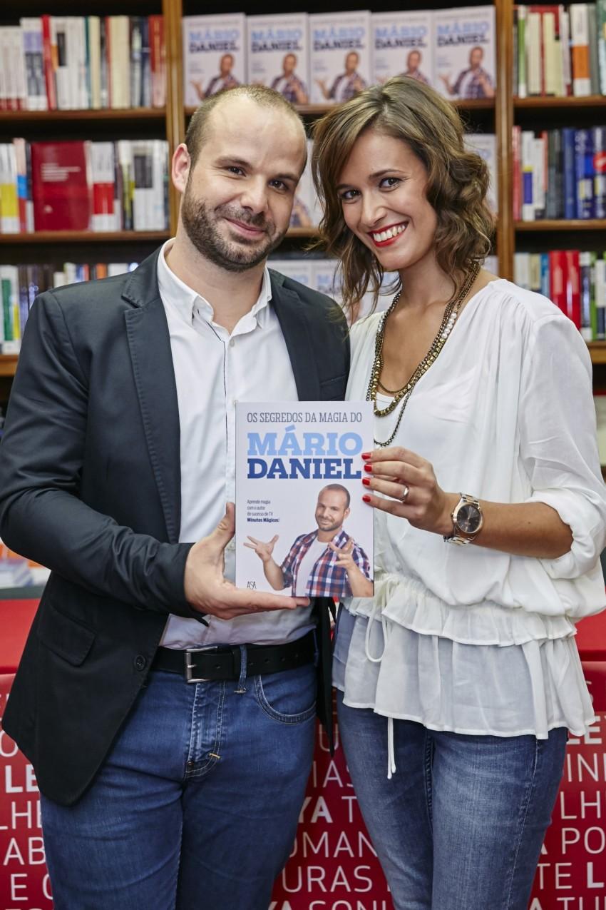 Mário Daniel com a mulher, Cláudia Pedrosa