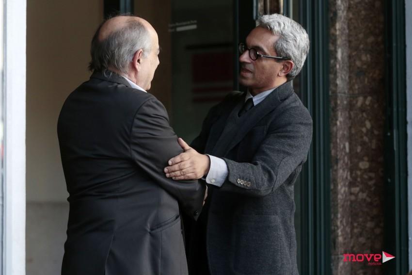 Jorge Barreto Xavier, antigo secretário de Estado da Cultura, com João Semedo