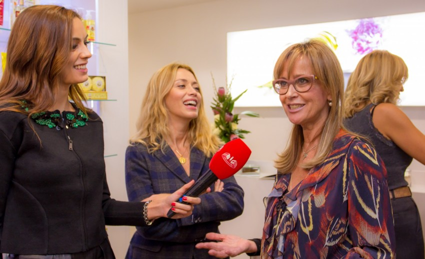 Maria João Grilo, proprietária da Roger&Gallet, com Ana Mesquita e Iva Lamarão