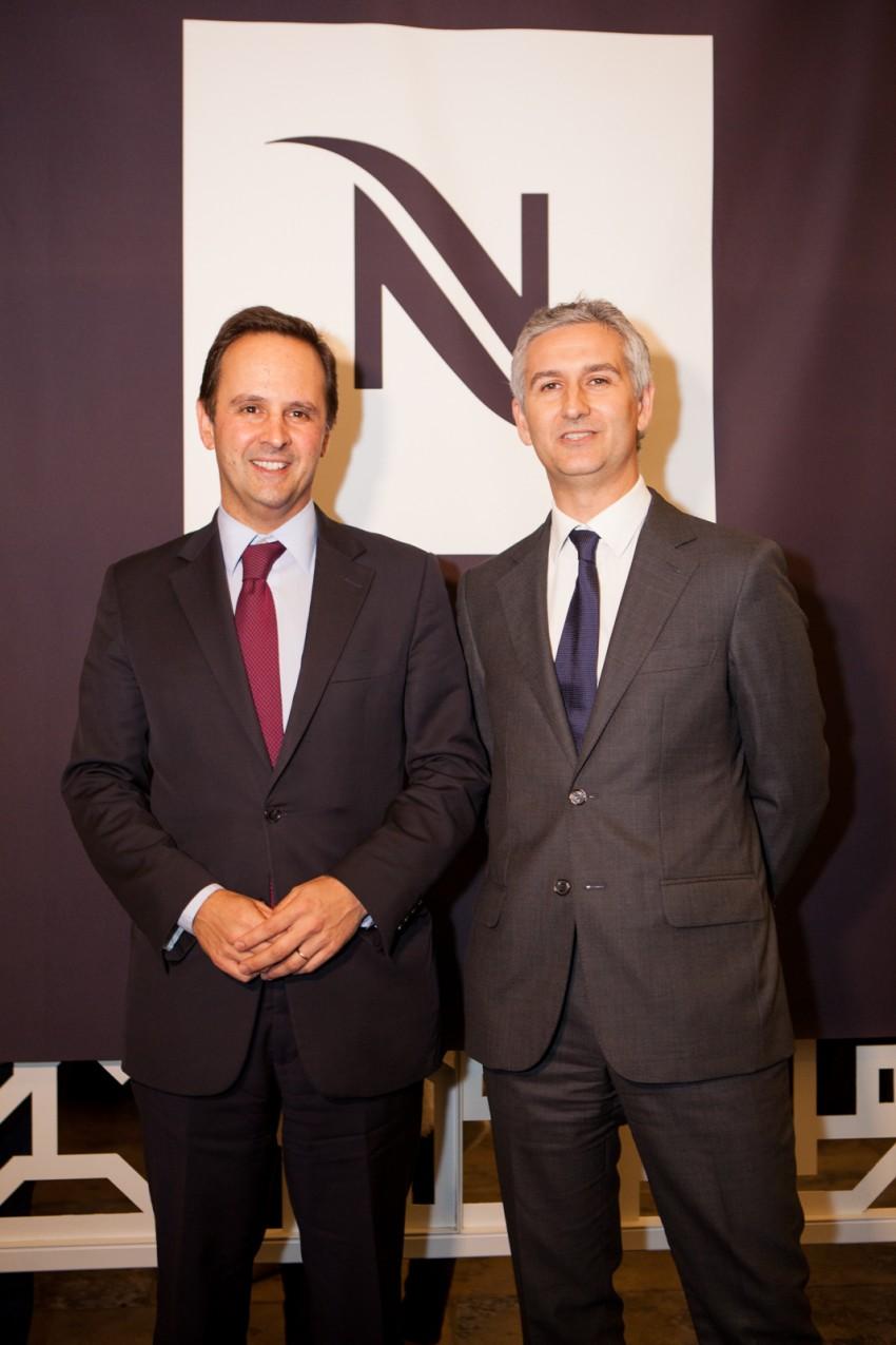 Presidente Câmara de Lisboa Fernando Media e Diretor-geral da Nespresso Stefano Goglio