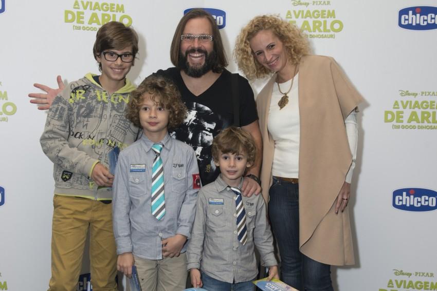 Quimbé  e Ana Palma com os filhos: Vasco, Lucas e Dinis