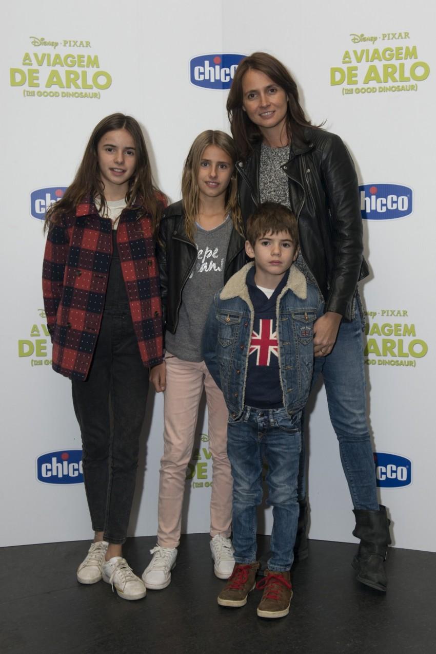 Anna Westerlund com os filhos: Ema, Mia e Max