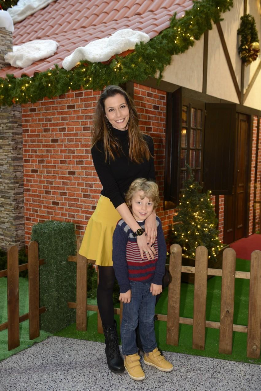 Cláudia Borges com o filho, Rodrigo
