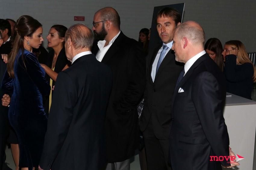 Pinto da Costa com a mulher, Fernanda, e o treinador do FC Porto Julen Lopetegui