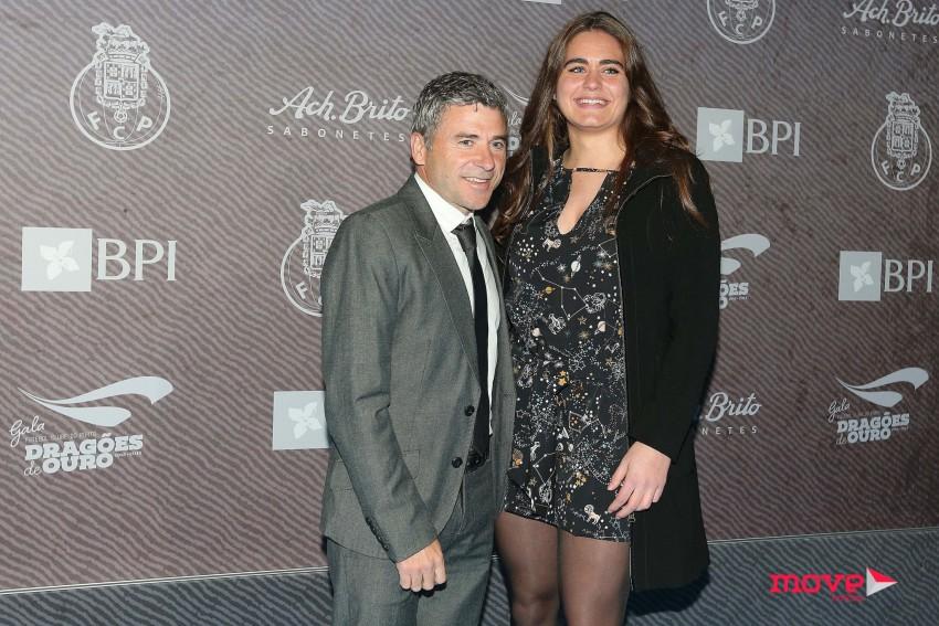 Rui Barros com a filha