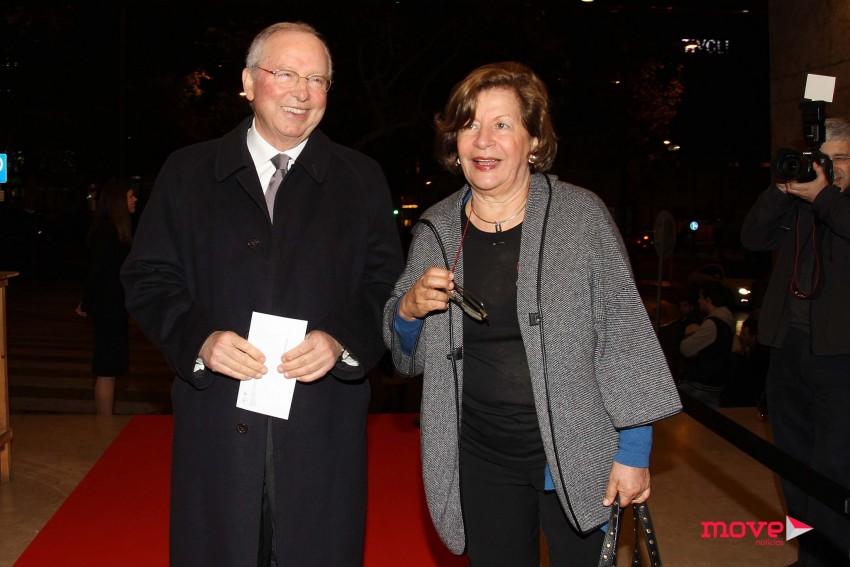 O antigo ministro António Correia Campos e a mulher