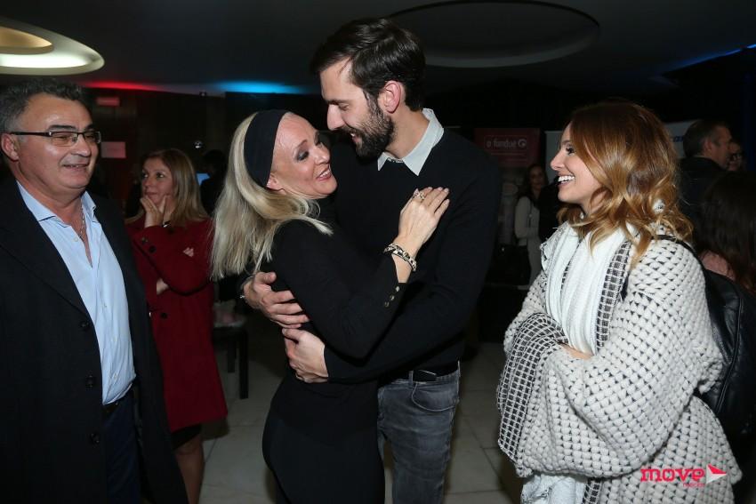 """Frederico Amaral cumprimenta a """"sogra"""" no final do espectáculo"""