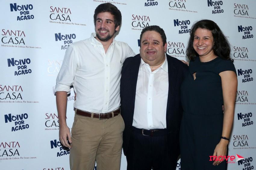 Fernando Mendes com os filhos Vítor e Nádia