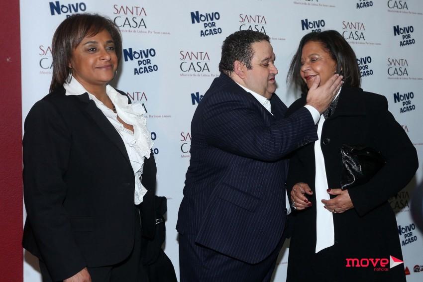 Sandra com Fernando Mendes e Flora Ferreira