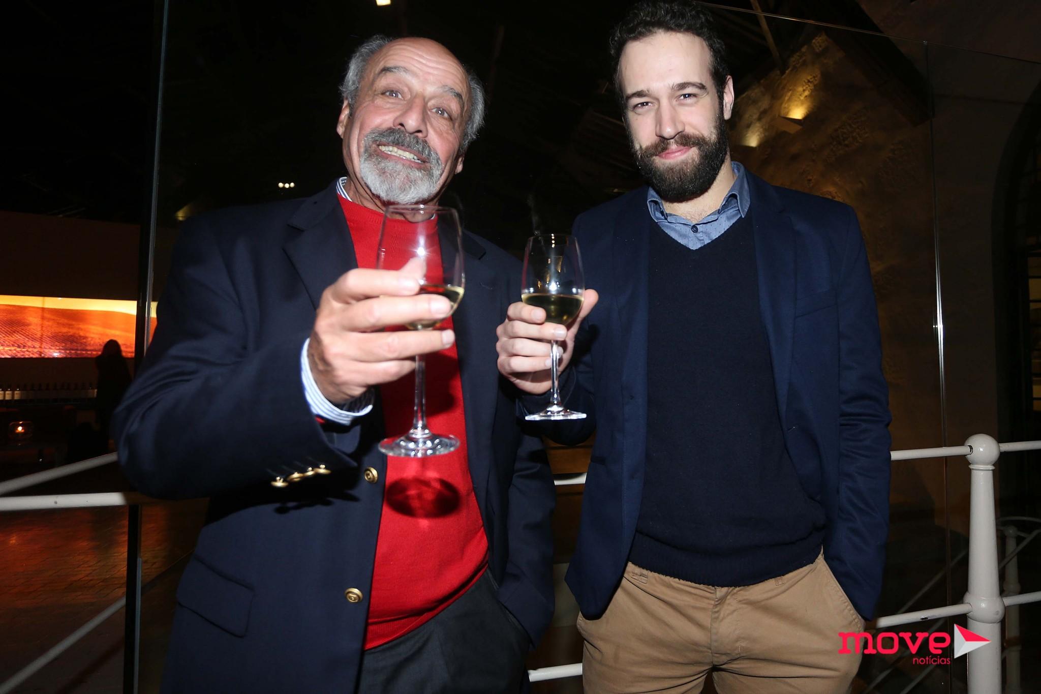 João Vicente com Alexandre de Sousa, o seu pai na ficção