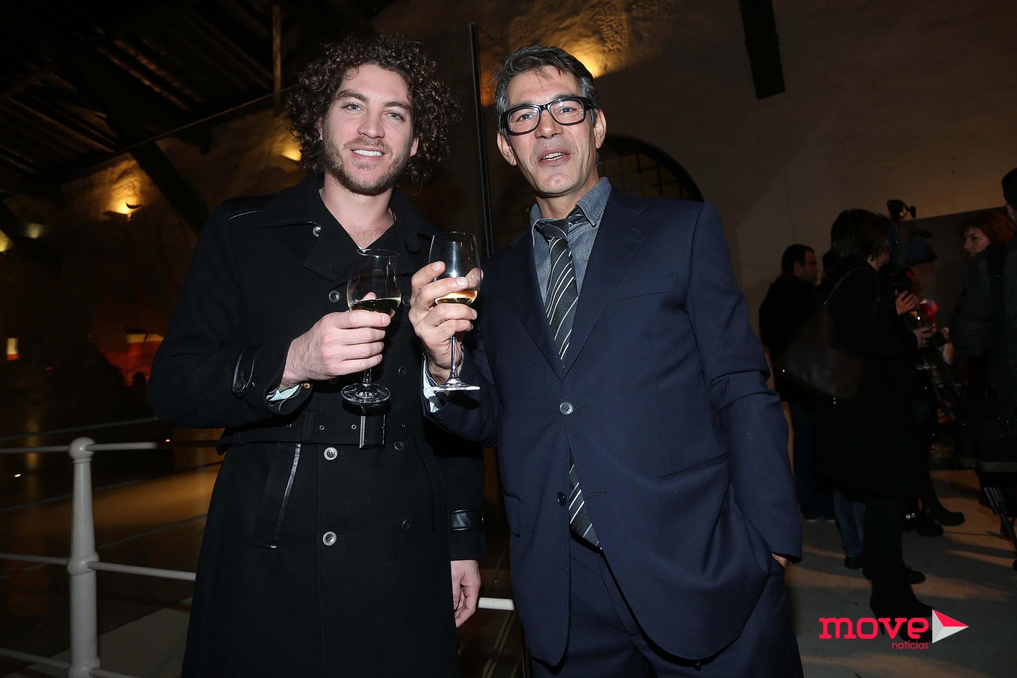 Afonso Melo com o colega Igor Marchesi