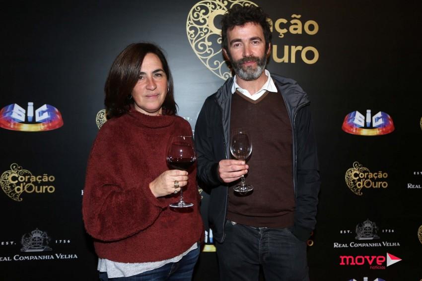 Rita Blanco com João Reis, outro dos protagonista da novela da SIC