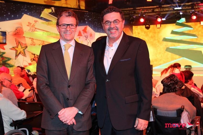 José Carlos Malato no Natal dos Hospitais com Gonçalo Reis, presidente da RTP