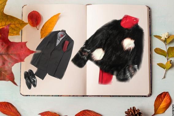 Via Celas (Lado Direito) - Casaco – Lui•Jo Camisola – Lui•Jo Calças – Lui•Jo  Via Celas (Lado Esquerdo ) - Fato homem - Hugo Boss Camisa - Hugo Boss Gravata - Hugo Boss Sapatos - Hugo Boss