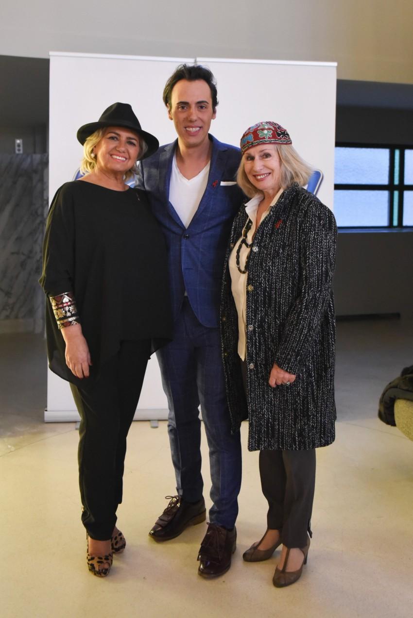 Maria Manuel Cyrne, Daniel Martins e Françoise Ariel Fundadora da Liga Portuguesa contra a SIDA