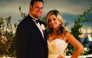 """O ator de """"Glee"""" Max Adler casou-se com Jennifer Bronstein, em Hollywood Hills, em dezembro."""