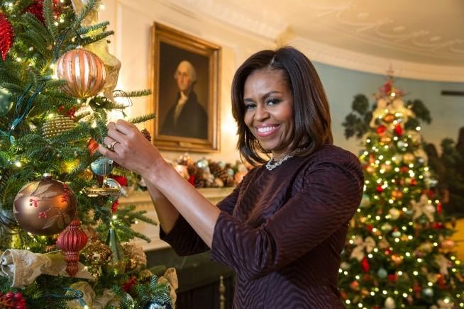 Michele Obama fotografada no ano passado na Casa Branca