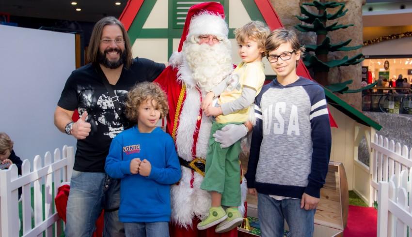 Quimbé com os filhos, Lucas, Vasco e Diniz