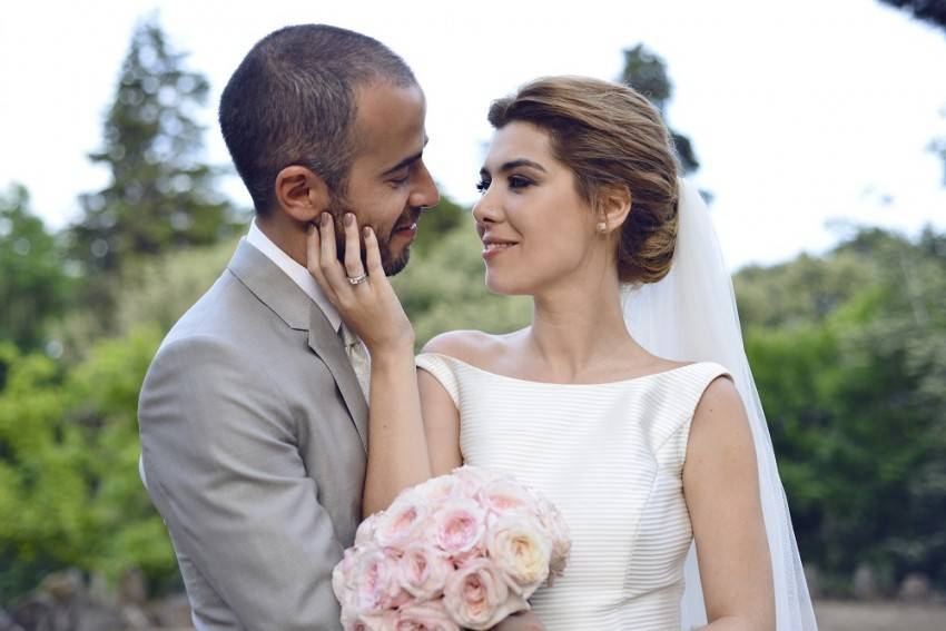 Raquel Strada e Joaquim Fernandes casaram em julho no hotel Vidago Palace.