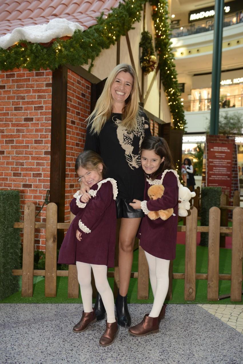 Sofia Jardim com as filhas, Luz e Leonor