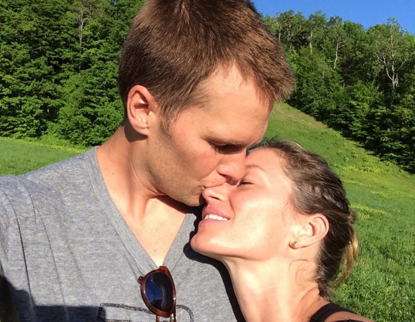 6. Tom Brady com a mulher a famosa top model Gisele Bündchen